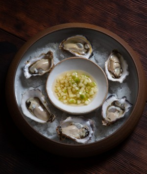 The food of love - oysters - on the menu at Hemingway's Wine Bar.