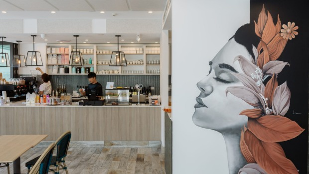 The light and airy Soul Tree Cafe in Summer Hill adjoins a small park and playground.