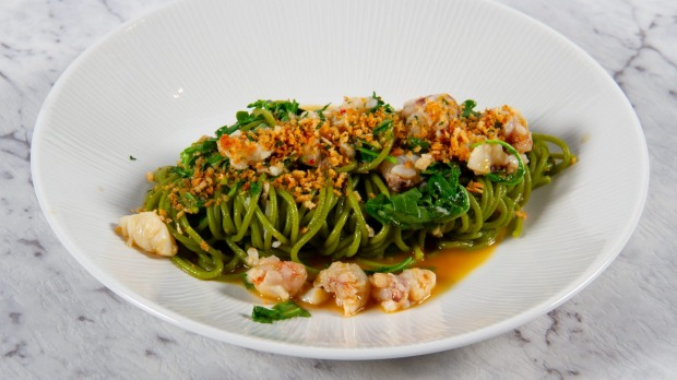 Rocket spaghettini with Moreton Bay bugs is featuring in Cappo Sociale's seafod feast.