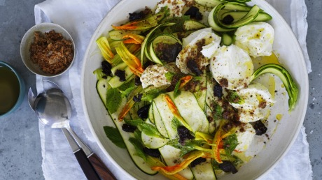 Karen Martini S Zucchini And Buffalo Mozzarella Salad Recipe Good Food