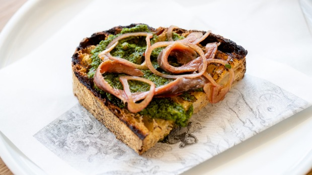 Anchovy toast.