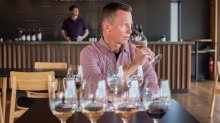 Daniel Hopkins, managing director of Tellurian Wines, says people feel safer in their own tasting space and are unafraid ...