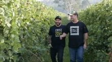 Brothers Christian (left) and Michael Dal Zotto of King Valley prosecco pioneers, Dal Zotto Wines.