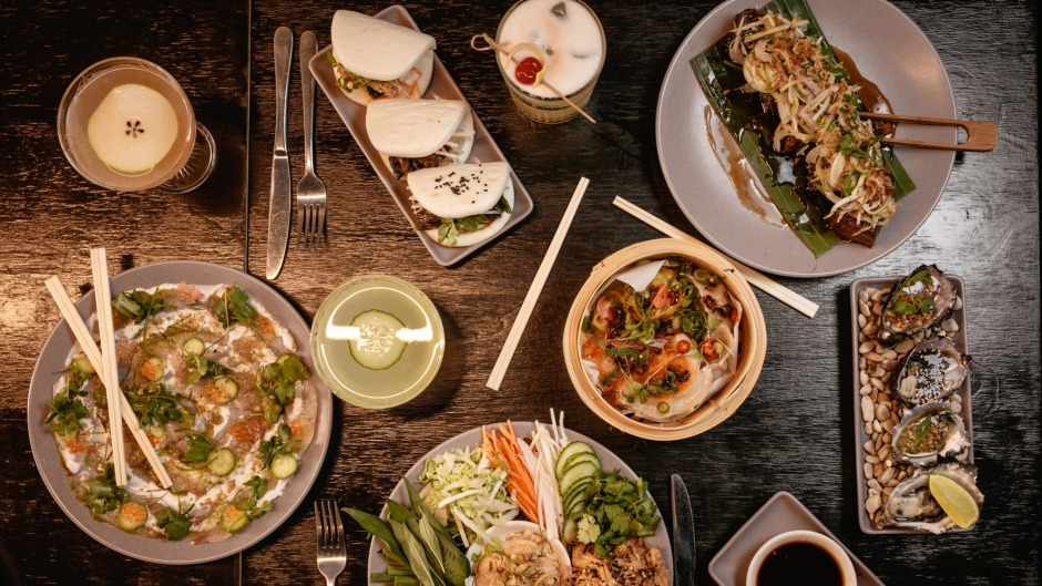 Opt for the mod-Asian banquet at Moon and Mountain.