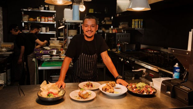 Rupesh Budhathoki, head chef at Vanda Taqueria in Newtown.