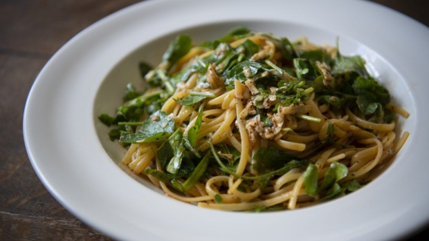 Sean's linguine with lemon, rocket and chilli.