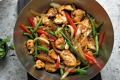 Spicy chicken stir-fry.