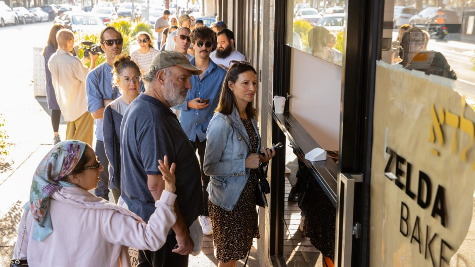 Zelda's opening has been big news in the local Jewish community, with queues along the street.