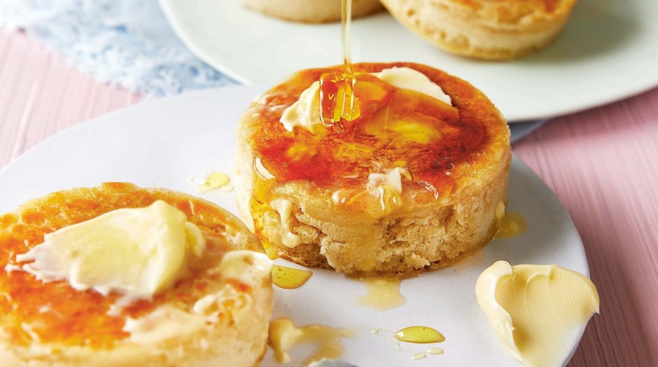 You won't believe how good freshly baked, homemade crumpets taste.