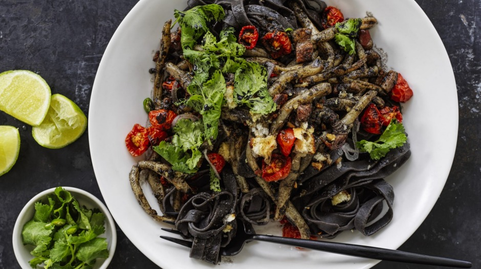 Italian meets Thai in this noodle dish.