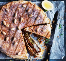 EMBARGOED FOR GOOD WEEKEND, APRIL 15/17 ISSUE. Neil Perry Recipe :Bastilla from Fez with chicken or quail Photograph ...