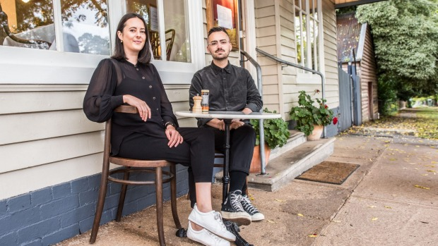 Samantha Mackley and Liam Thornycroft, owners, Beppe trattoria in Daylesford.