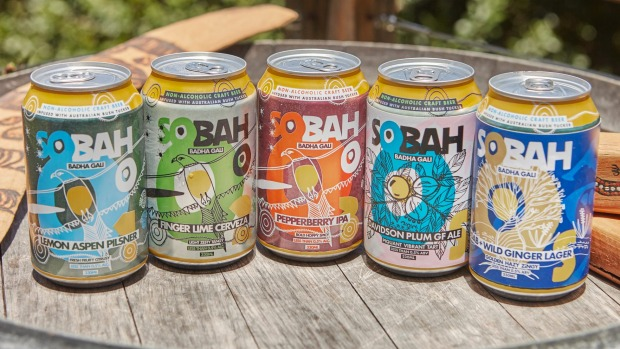 The Sobah rainbow of non-alcoholic beer launched in 2017.