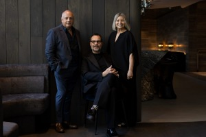 Chris Lucas, Martin Benn and Vicki Wild at Society restaurant, which opens mid year.