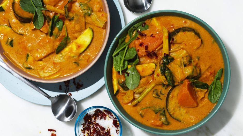 Coconut vegetable curry.