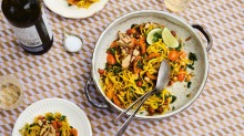 Sweet, sour, salty and spicy: This colourful noodle dish uses flavours of the Thai dish som tum.