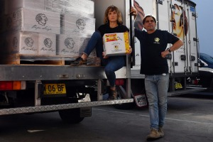 Pepa Saya owner Pierre Issa and partner Melissa Altman use Australia Post to deliver butter to areas outside of ...