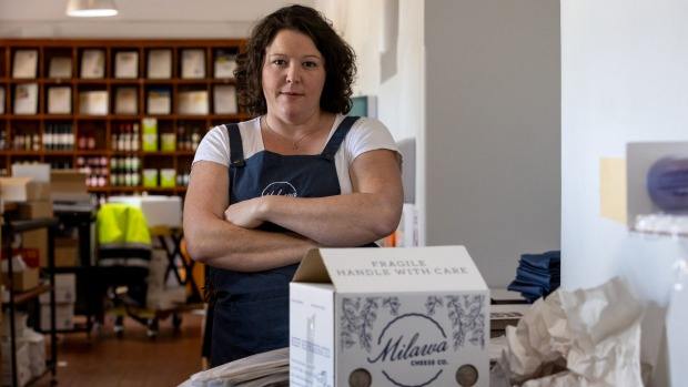 Milawa Cheese chief executive Ceridwen Brown says Australia Post's decision to stop delivering perishable goods is the ...