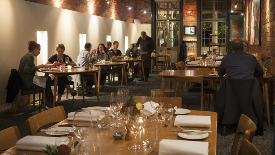The dining room at Source Dining, Kyneton, which has closed due to lack of staff.