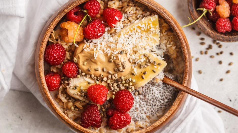 TikTokers are sharing highly styled porridge bowls with toppings such as chia seeds, berries, peanut butter and hemp ...