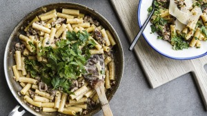One-pan pasta with sausage and fennel and a silky sauce.
