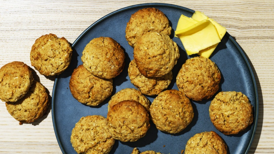 Oat and coconut scones.