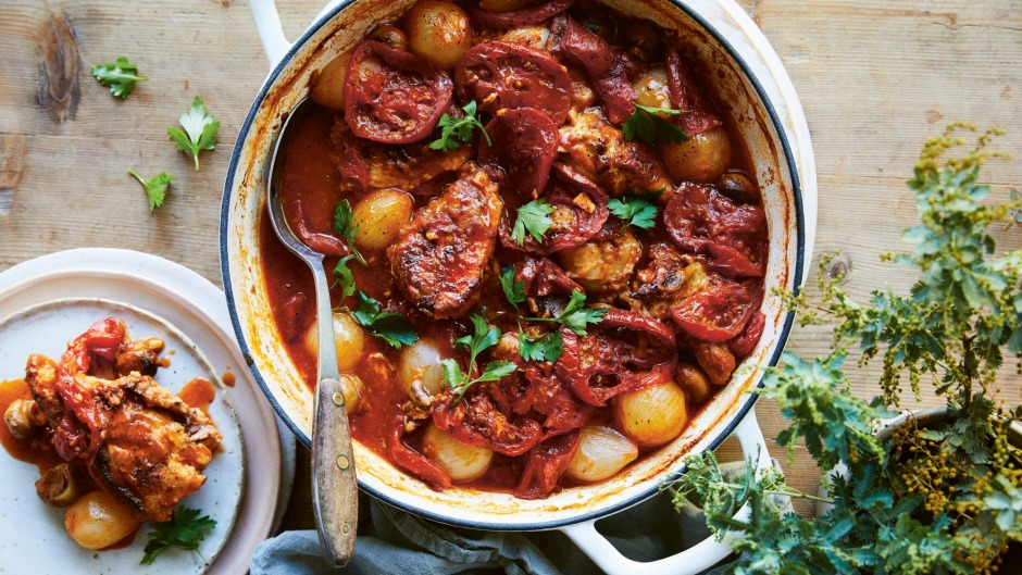 Simple and hearty: Chicken Marengo is made for feeding family and friends.