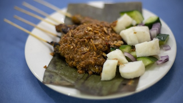 Island Dreams' chicken satay sticks are only served during Ramadan.
