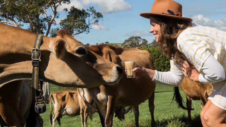 Owner of Gippsland Dairy, Sallie Jones, who is calling for Melbourne baristas to use more local milk.