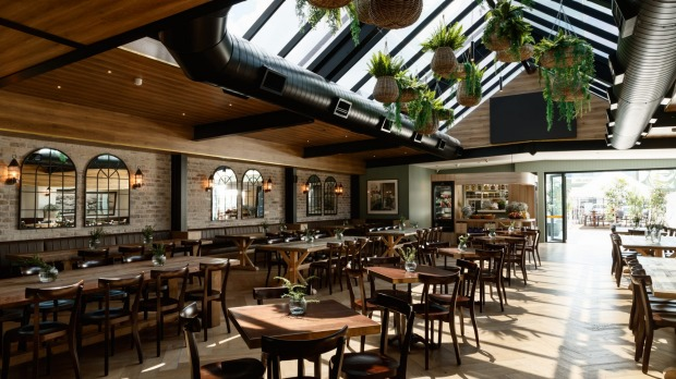 The light-filled atrium bistro at The Royal Richmond Hotel.