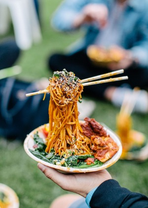 The always-instagrammable Flying Noodles from Flying Noodle/Twistto