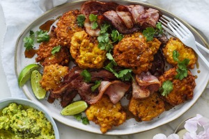 Neil Perry says he can't get enough of these corn fritters.