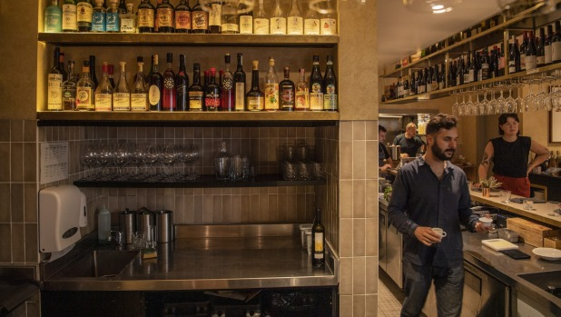 Some of the amaro, grappa and vermouth on the pour at Ragazzi in the Sydney CBD.