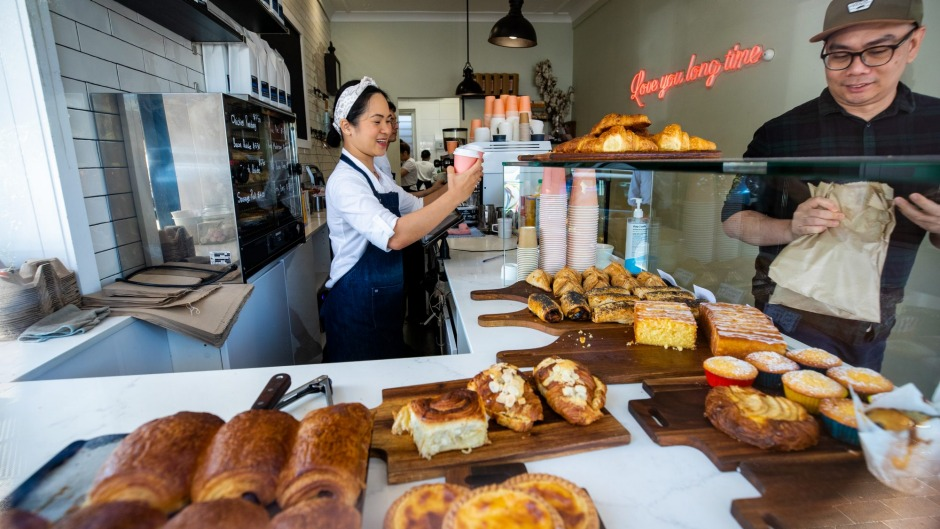 Nosh+ cafe in mosman, famous for pastries and takeaway croissants.