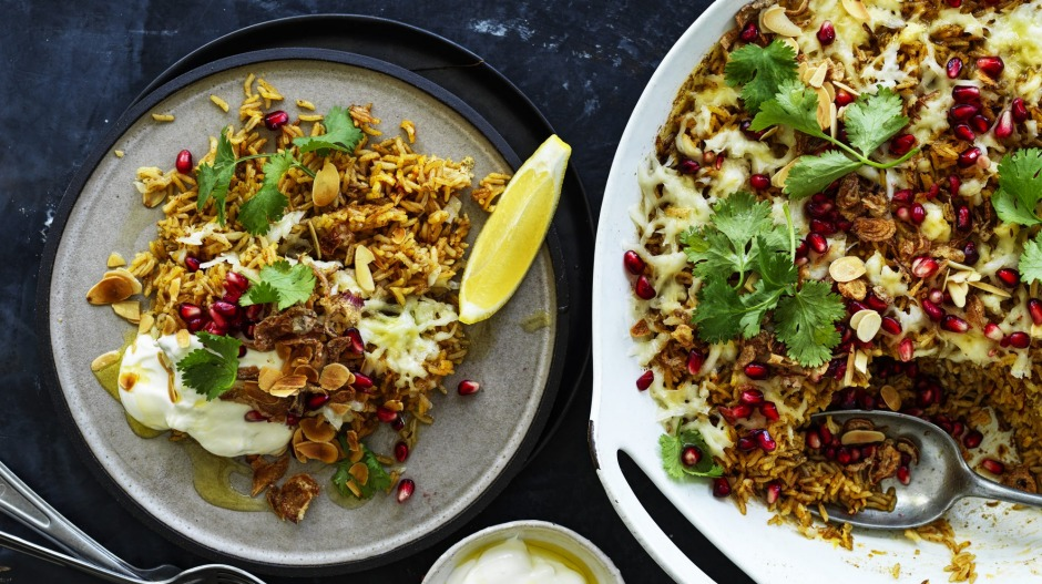 Serve this spiced rice with yoghurt on the side.