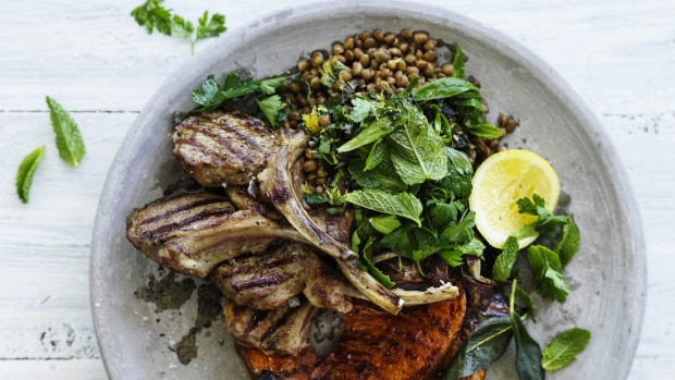 William Meppem – Fri, 18. January 2019 3:43 PMBarbecuedLambchopswithroast Queensland bluepumpkinandLentils_0617.jpg***EMBARGOED FOR GOOD WEEKEND, JANUARY 26/19 ISSUE*** Neil Perry Recipe :BarbecuedLambchopswithroast Queensland bluepumpkinandLentils Photograph by William Meppem (photographer on contract, no restrictions)