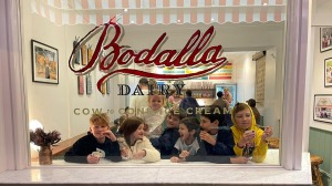 Classic milk and honey is popular with children at Woollahra's new ice-creamery.