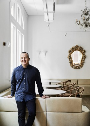 Nathan Toleman of the Mulberry Group at Hazel restaurant, which runs on gas and open flame due to the Flinders Street ...