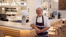 ChefPeter Conistis at the revamped Alpha Greek restaurant.