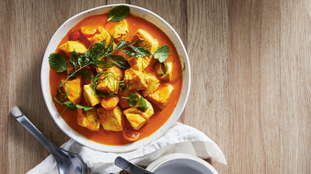Fish curry The Slow Cook by Justine Schofield, published by Plum, RRP $39.99.Photography by Rob Palmer Single use only - print and online