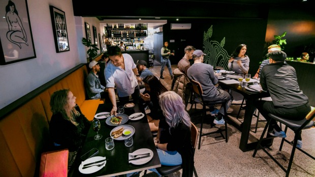 Comma's city wine bar vibe flows through to the food.