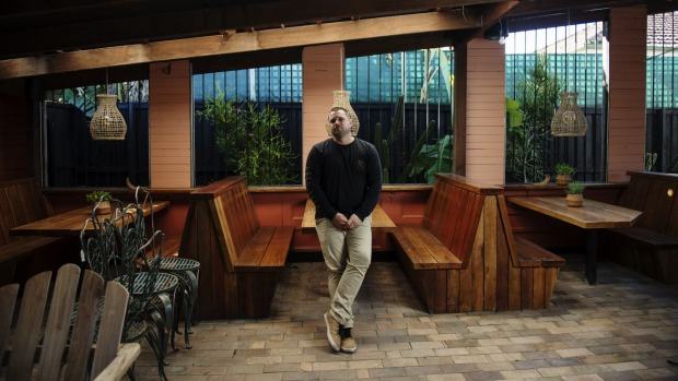 Owner of La Familia Jack Wright, pictured at his unopened restaurant in Mullumbimby.