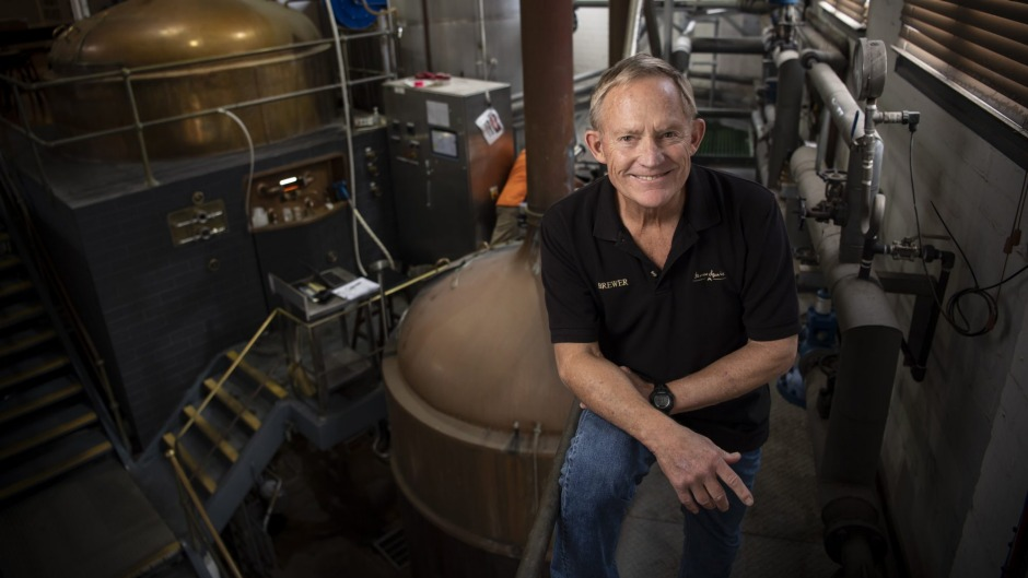 Dr Charles 'Chuck' Hahn at the Malt Shovel Brewery in Camperdown, May 2021.