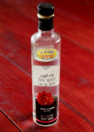 Think of rosewater like perfume, a little goes a long way.