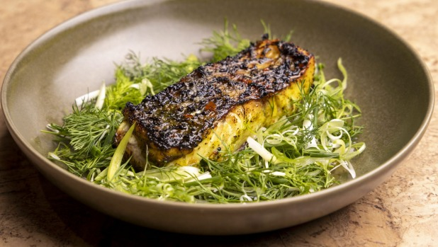 Barramundi fillet with burnt butter and nuoc mam.