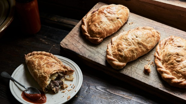 Extract fromAll Day BakingbyMichael andPippaJames, published by Hardie Grant Books, RRP$45.00.Photographer by Lisa Cohen. Steak and stilton pasties Strictly single use print and online