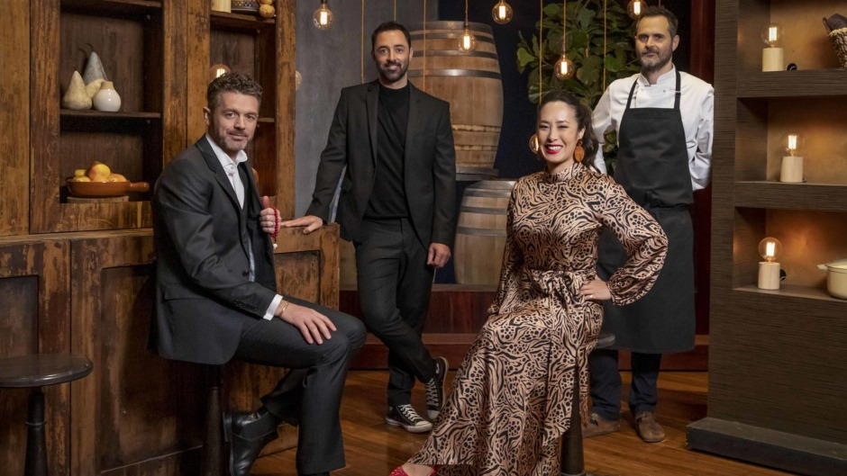 Judges Jock, Andy, Melissa and chef Anthony Hart will see you now.