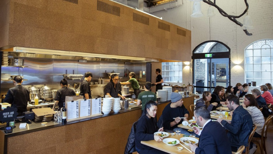 Kylie Kwong in the kitchen at her new eatery in Eveleigh.