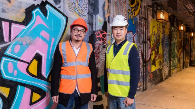 Billy Chong (left) and Kaisern Ching at their new venture.
