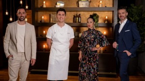 Judge Andy Allen, chef Josh Niland and judges Melissa Leong and Jock Zonfrillo set a fishy challenge that sends someone ...